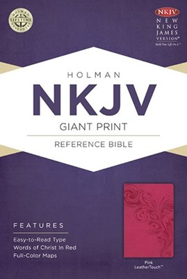 NKJV Large Print Personal Reference Bible Pink Index (Imitación Piel) [Biblias]