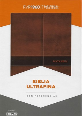 Biblia RVR60 Ultrafina con Refencias Marrón Iman