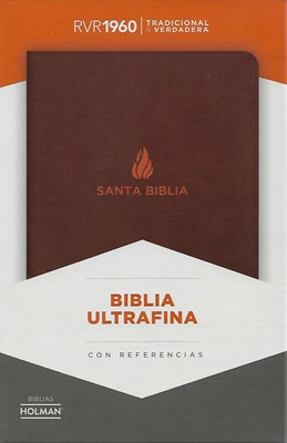 Biblia RVR1960 Ultrafina con Referencias Marrón