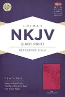NKJV Large Print Personal Reference Bible Pink Index